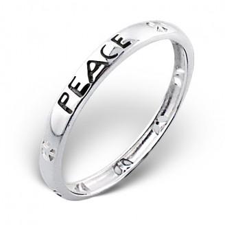 """Stříbrný prsten """"Mír"""". Ag 925/1000"""
